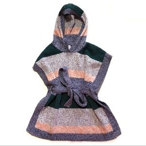 Tea Collection Striped Poncho 4-5